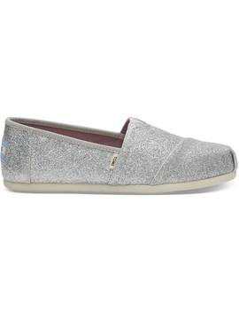 Silver Iridescent Glitter Women's Classics by Toms