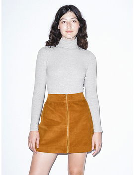 Corduroy Zip Skirt by American Apparel
