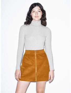 Corduroy Zip Skirt by American Apparel