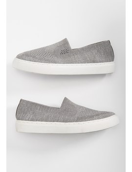 Heather Knit Mesh Slip On Sneaker by Maurices