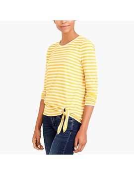 Long Sleeve Striped Side Tie T Shirt by J.Crew