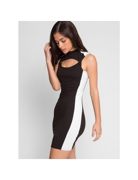 Streetcar Cut Out Dress In Black by Wet Seal