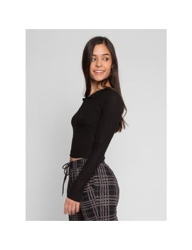 Past Time Thermal Crop Top by Wet Seal