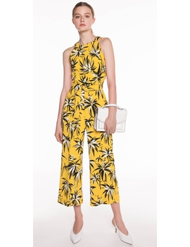 Palm Crepe Belted Jumpsuit by Cue