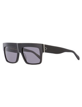 Celine Rectangular Sunglasses Cl41756s 8073h Shiny Black 56mm 41756 by Celine