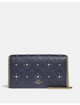 Foldover Chain Clutch With Prairie Rivets by Coach