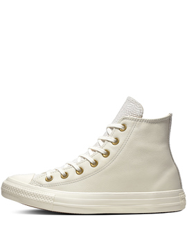 Chuck Taylor All Star Leather + Gator High Top by Converse