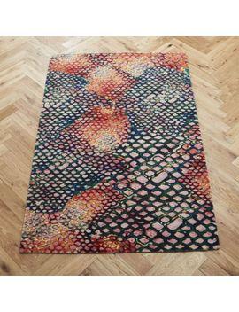 Rainbow Snakeskin Rug by Crate&Barrel