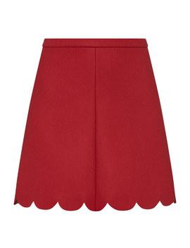 Scallop Hem Skirt by Red Valentino