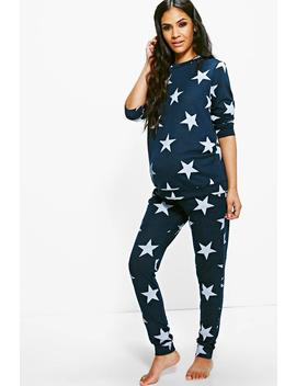 Maternity Star Printed Knitted Lounge Set by Boohoo