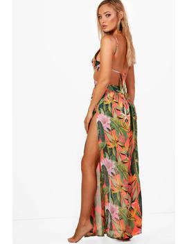 Tropicana Cut Out Maxi Beach Dress by Boohoo