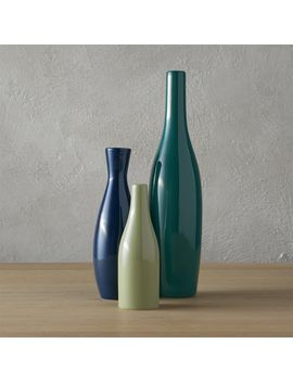 3 Piece Blue And Green Scout Vase Set by Crate&Barrel
