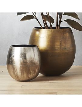 Rough Cast Planters by Crate&Barrel