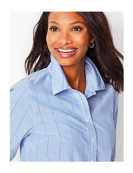 Classic Cotton Shirt   Stripe by Talbots
