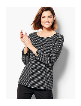 Check Jacquard Top by Talbots