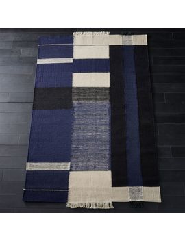 Haymarket Navy Wool Rug 8x10 by Crate&Barrel