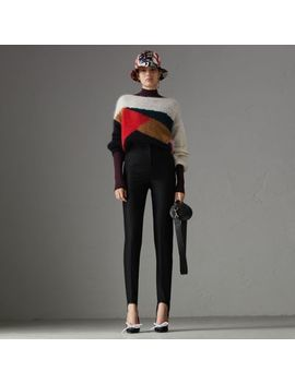 Geometric Intarsia Mohair Silk Blend Sweater by Burberry