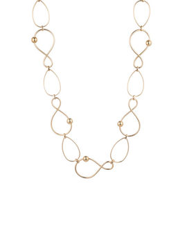 Golden Wave Twisted Link Necklace by Trina Turk