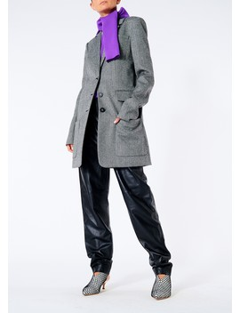Herringbone Car Coat by Tibi