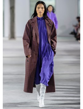 Menswear Check Oversized Trench With Removable Lining by Tibi
