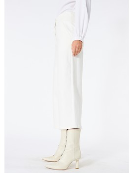 Washed Twill Cropped Wide Leg Jean by Tibi