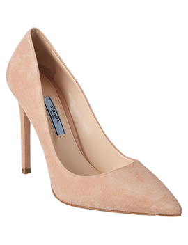 Prada 110 Suede Pointy Toe Pump by Prada