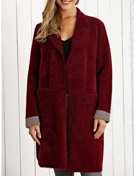 Woolen Color Block Overcoat by Gamiss