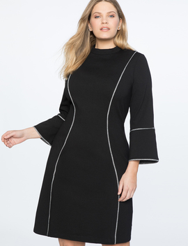 Flare Sleeve A Line Dress by Eloquii