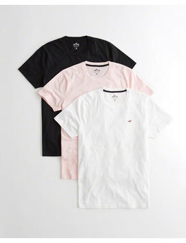Must Have Crewneck T Shirt 3 Pack by Hollister