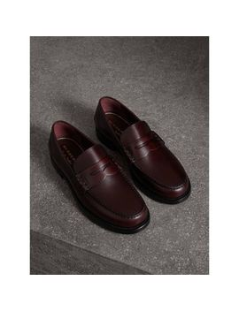 Leather Penny Loafers by Burberry