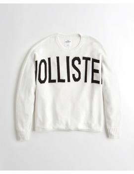 Logo Oversized Sweater by Hollister