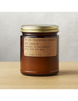 Teakwood And Tobacco Soy Candle 7.2 Oz by Crate&Barrel