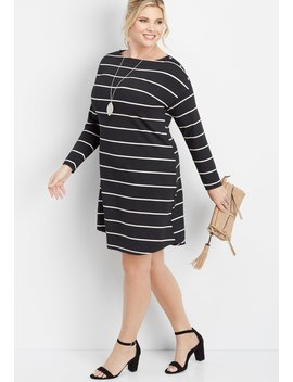 Plus Size 24/7 Snap Shoulder Shirtdress by Maurices