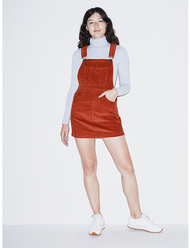 Corduroy Skirt Overall by American Apparel