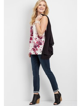 X Front Floral Lace Tank by Maurices