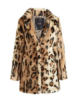 Leopard Faux Fur Coat   Women by Jessica Simpson Jeanswear