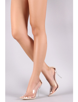 Transparent Pointy Toe Stiletto Pump by Urbanog