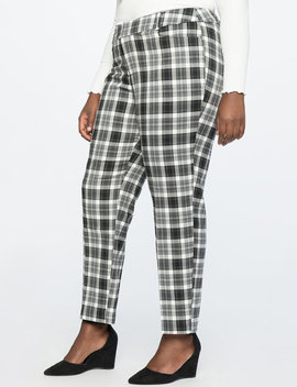 Plaid Ankle Pant by Eloquii