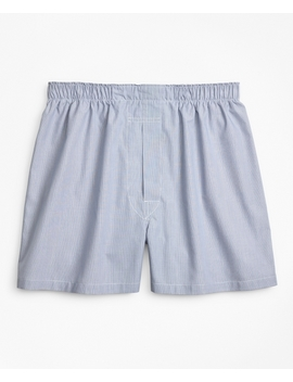 Traditional Fit Ground Hairline Stripe Boxers by Brooks Brothers