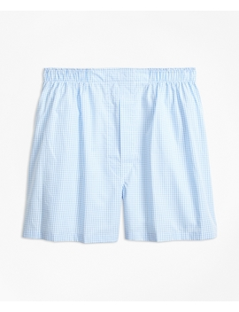 Traditional Fit Gingham Boxers by Brooks Brothers