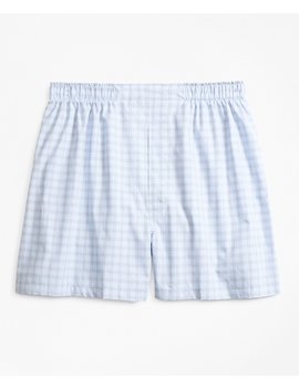 Traditional Fit Check Boxers by Brooks Brothers