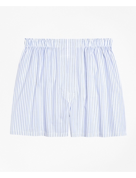 Traditional Fit Ground Stripe Boxers by Brooks Brothers
