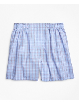 Traditional Fit Double Windowpane Boxers by Brooks Brothers