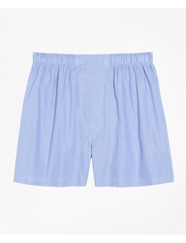 Traditional Fit Pencil Stripe Boxers by Brooks Brothers
