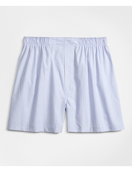 Traditional Fit Railroad Stripe Boxers by Brooks Brothers
