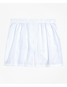 Traditional Fit Windowpane Boxers by Brooks Brothers