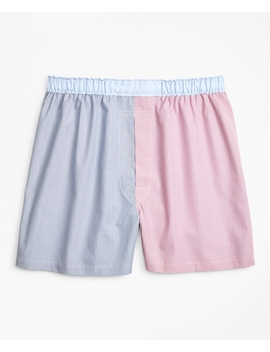 Traditional Fit Fun Hairline Stripe Boxers by Brooks Brothers
