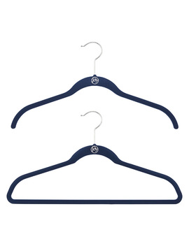 Joy Mangano Navy Huggable Hangers Case Of 40 by Container Store