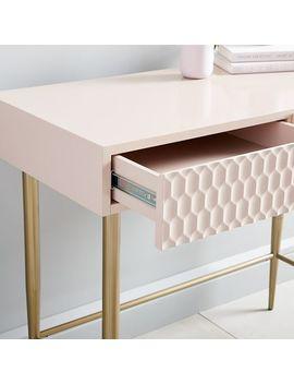 Audrey Mini Desk   Blush by West Elm