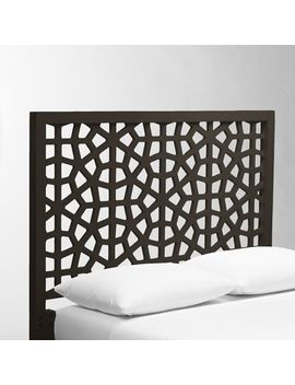 Morocco Headboard   Chocolate by West Elm